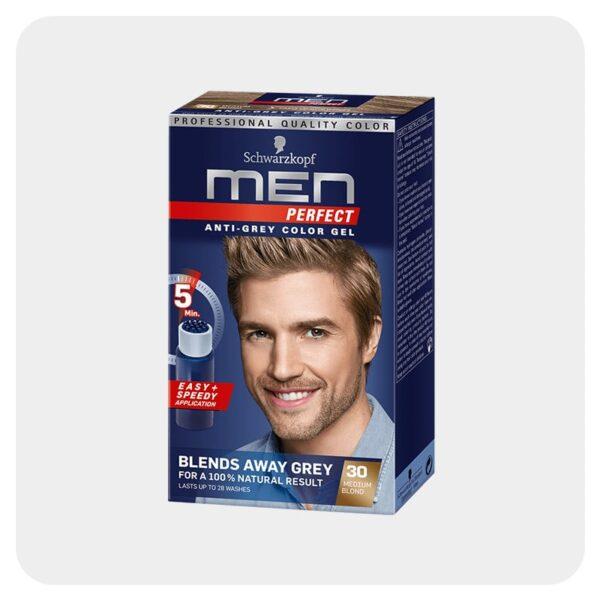 رنگ مو مردانه بلوند متوسط