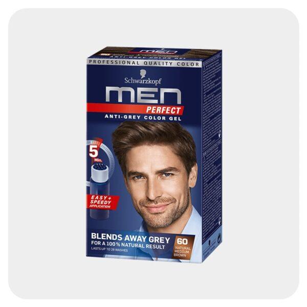 رنگ مو مردان قهوه ای متوسط